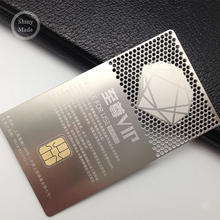 Manufacturer Custom Made Metallic Business Metal VIP Visiting Cards stainless steel membership card factory