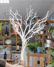Artificial white dry tree branch withour leaves, wedding tree branch without leaves