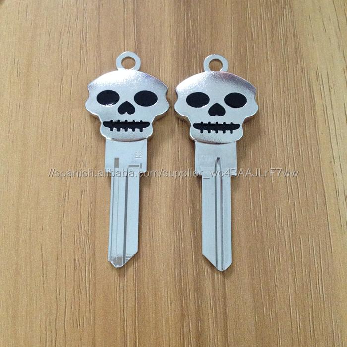 Nuevos artículos creativos 3D cráneo de metal clave