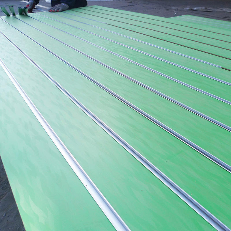 1220*2440*15mm 11 lines green melamine Slat Wall Panel Display Stand In maple Colour