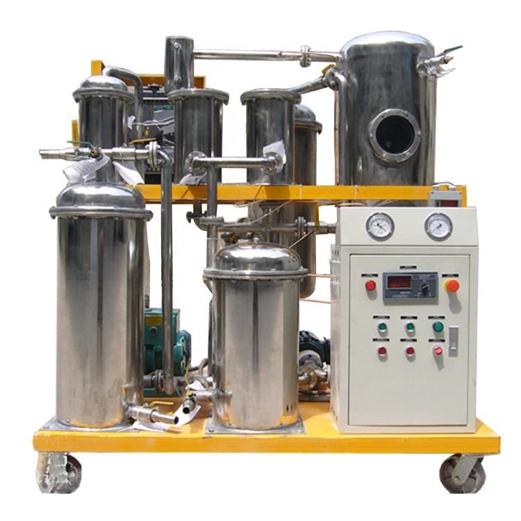 Vacuum Oil Purifier to Purify Raw Material Used Cooking Oil for Biodiesel Production
