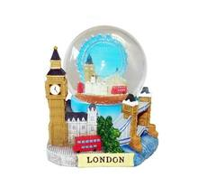 3D Small De Luxe Collage Snow Globe Detailing London Landmarks Big Ben Tower Bridge water ball snowball London Souvenirs
