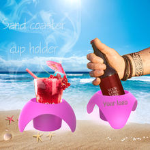 Set of Four Beach Beverage Sand Cup Holders