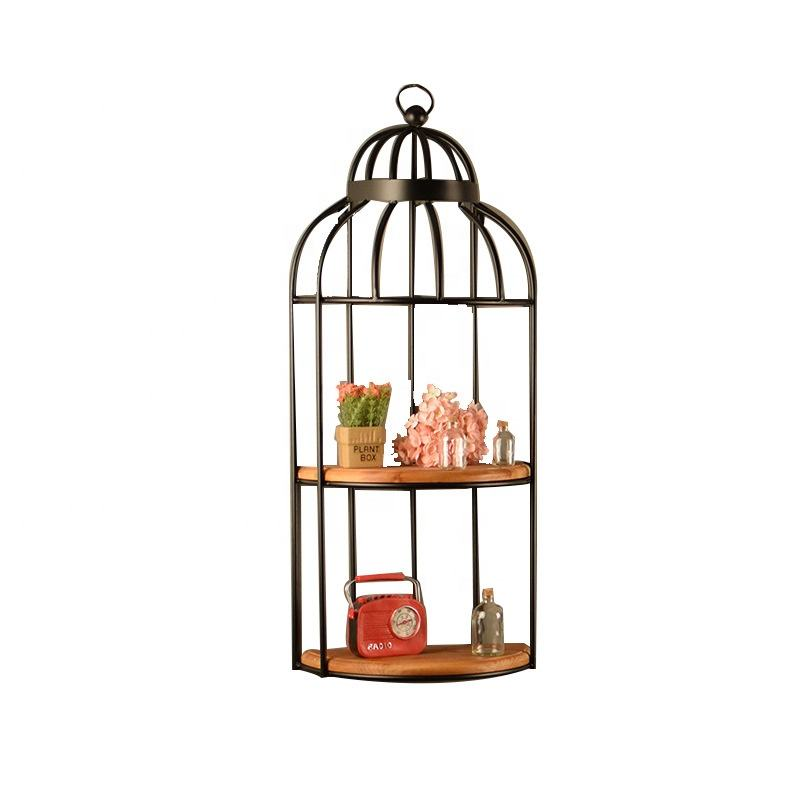 American Retro Craft Decoration Simple Birdcage Wall Hanging