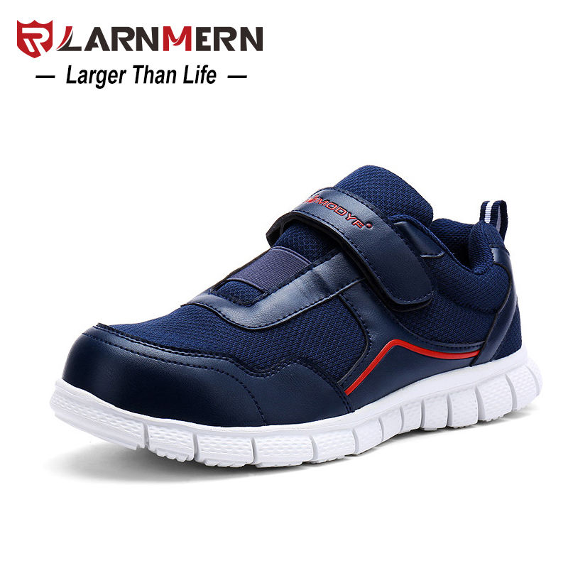 LARNMERN Anti-smashing Steel Toe Safety Lightweight Breathable Men's Work Shoes Non Slip Puncture Proof Footwear With Magic Tape