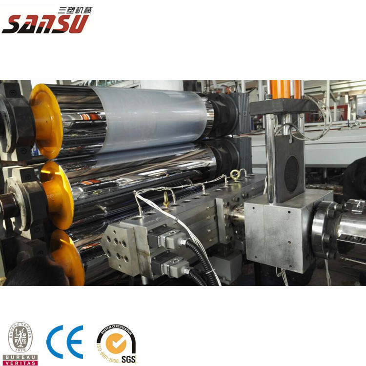 PP plastic sheet extruder making machine extrusion line