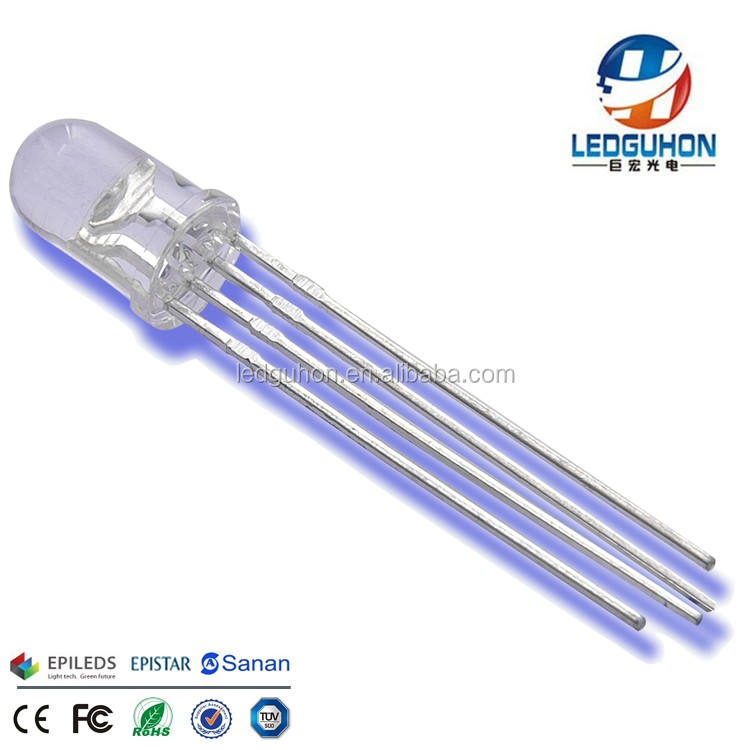 Rgb led 5mm עגול 4 סיכות LED דיודה