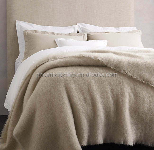 100% wool blanket hotel bed throw cashmere blanket