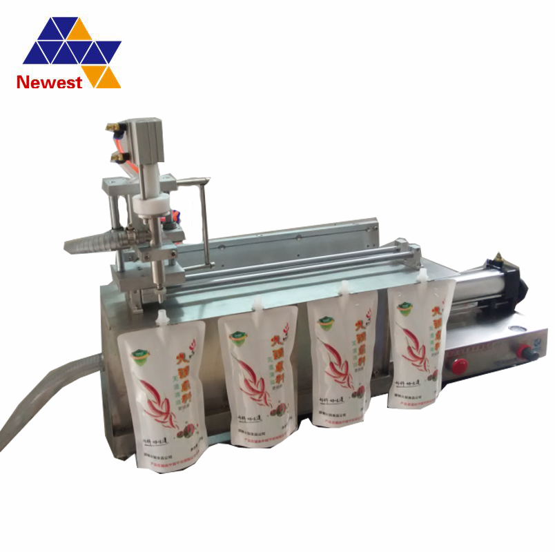 Doypack standing up bag/pouch filling capping machine/spout pouch liquid milk filling machine