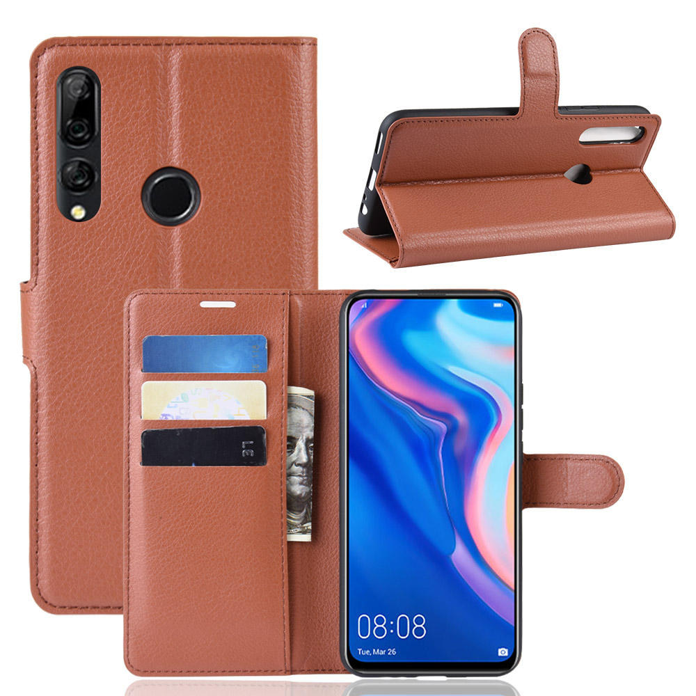 Fashion Litchi Leather Case for Huawei Y9 Prime 2019 Flip Wallet Case Protective Cell Phone Covers Case for Huawei Y9 Prime 2019