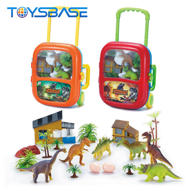 Newest Kids Favorite Plastic Dinosaur Toy,Tool Pull Rod Box Dinosaur Figurine Toys