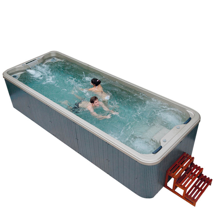 Hot sale endless pool,air massage whirlpool massage swim spa,6m outdoor swim spa