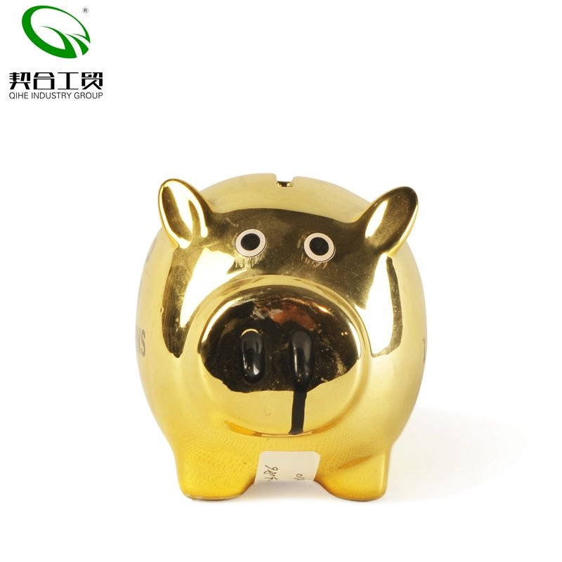 7x5x5inch Pig Piggy Bank,Transparent Creative Glass Coin Bank Small Glass Piggy Bank Money for Children Boys and Girls Birthday Gifts Home Decorative a 18x12x12cm