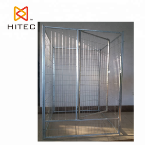 Outdoor Hot Dip Galvanized Wire Mesh Anjing Besar Pagar Anjing Kennel Besar Outdoor