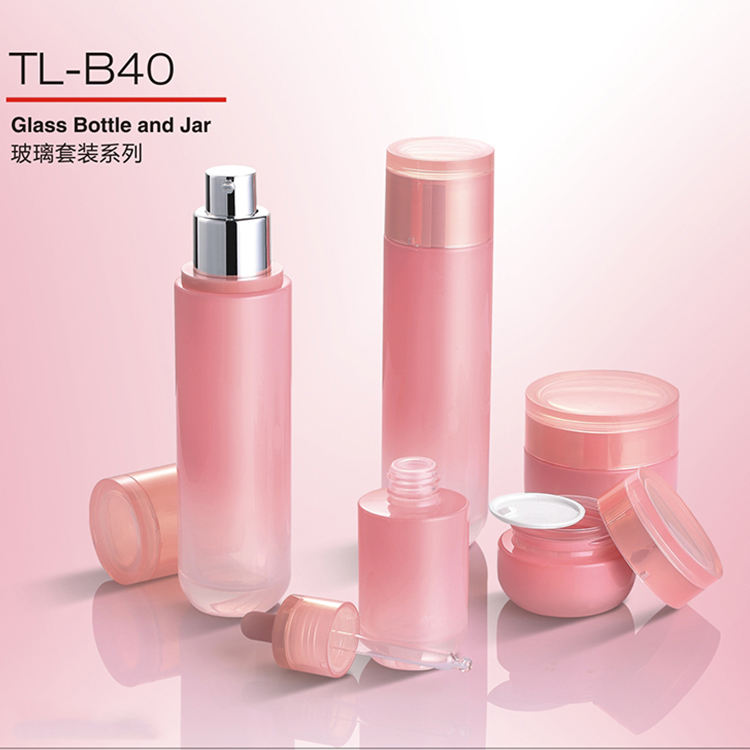 Chinese Manufacturers factory price cosmetic bottle set Direct 30ml 50g 100g 120ml cream jars lotion Glass Bottle Set