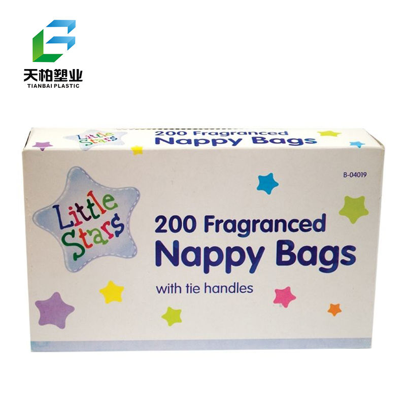 400-1000 Scented Nappy Bags Baby Fragranced Nappy Sacks with Tie Handles