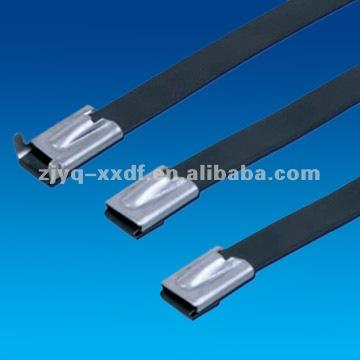 400x4.6mm BZ-C Plastic Covered ball-lock stainless steel cable ties