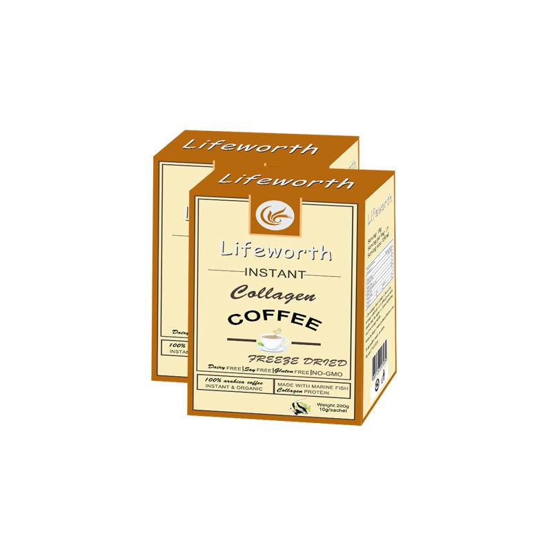 Lifeworth 100% natural fish collagen granule freeze coffee brazil