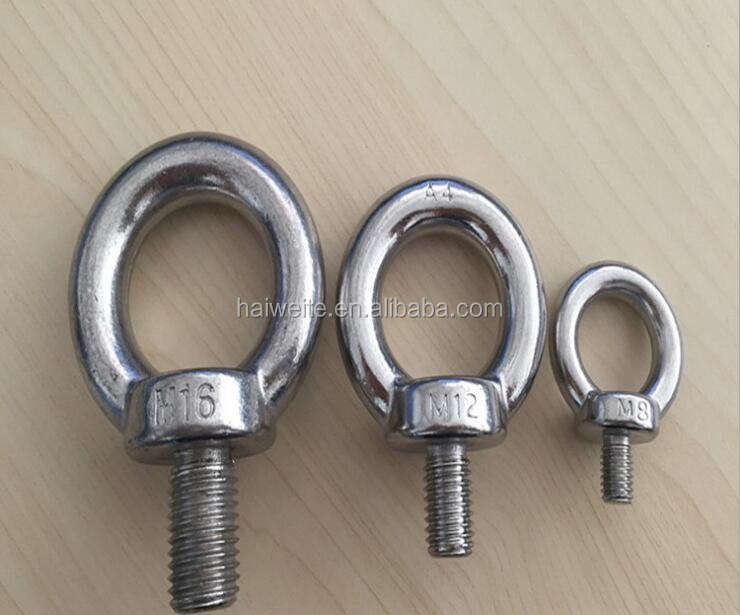 Heavy duty oval stainless steel m4 hook anchor lifting eye bolt