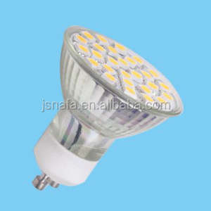2014 nieuwe glas gu10 smd led light 230 V 4.5 w china
