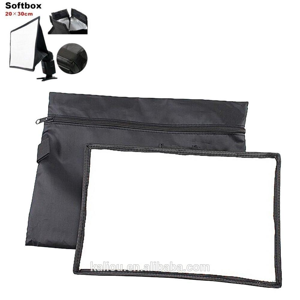 Portable lambed box flash softbox 20x30cm flash diffusers for canon 580EX 430EX 550EX 540EZ 420EX Nikon SB800