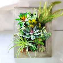 Artificial Succulent Vine Wall Hanging For Wedding Home Office Hotel Decoration Plants Frame