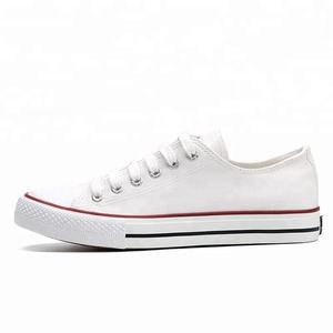 Plain black white blank bulk stock wholesale cheap men canvas shoes