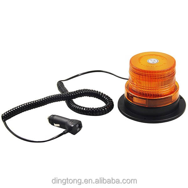 LED Dual-Mount Beacon Light Amber Magnetic/permanent mount