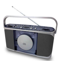 portable vertical CD AM FM stereo radio