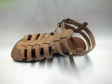 Peru Crab Pattern Leather Sandal