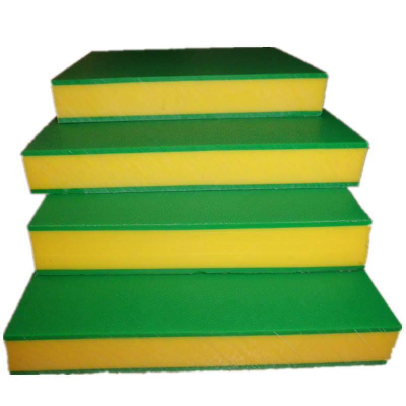 Sandwich 3 layer hdpe dubbele kleur plastic sheet en board speeltuin pe sheet