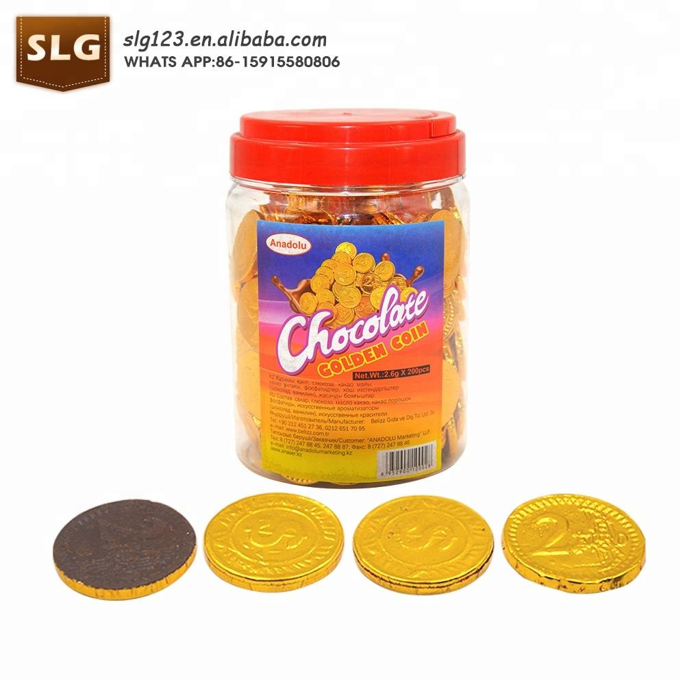 cheap gold coin shape sweet honey chocolate chip
