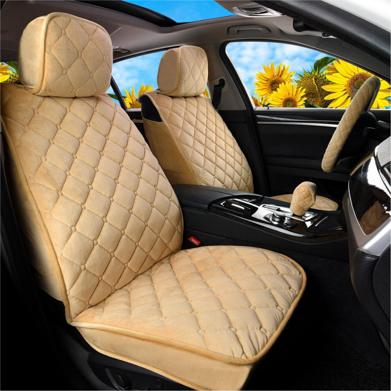 Luxury Faux SHEEPSKIN FUR Car Seat Covers Front Pair For NISSAN PATROL