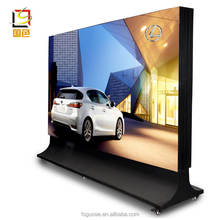 Aluminum picture frame led advertising light boxes board with wheels