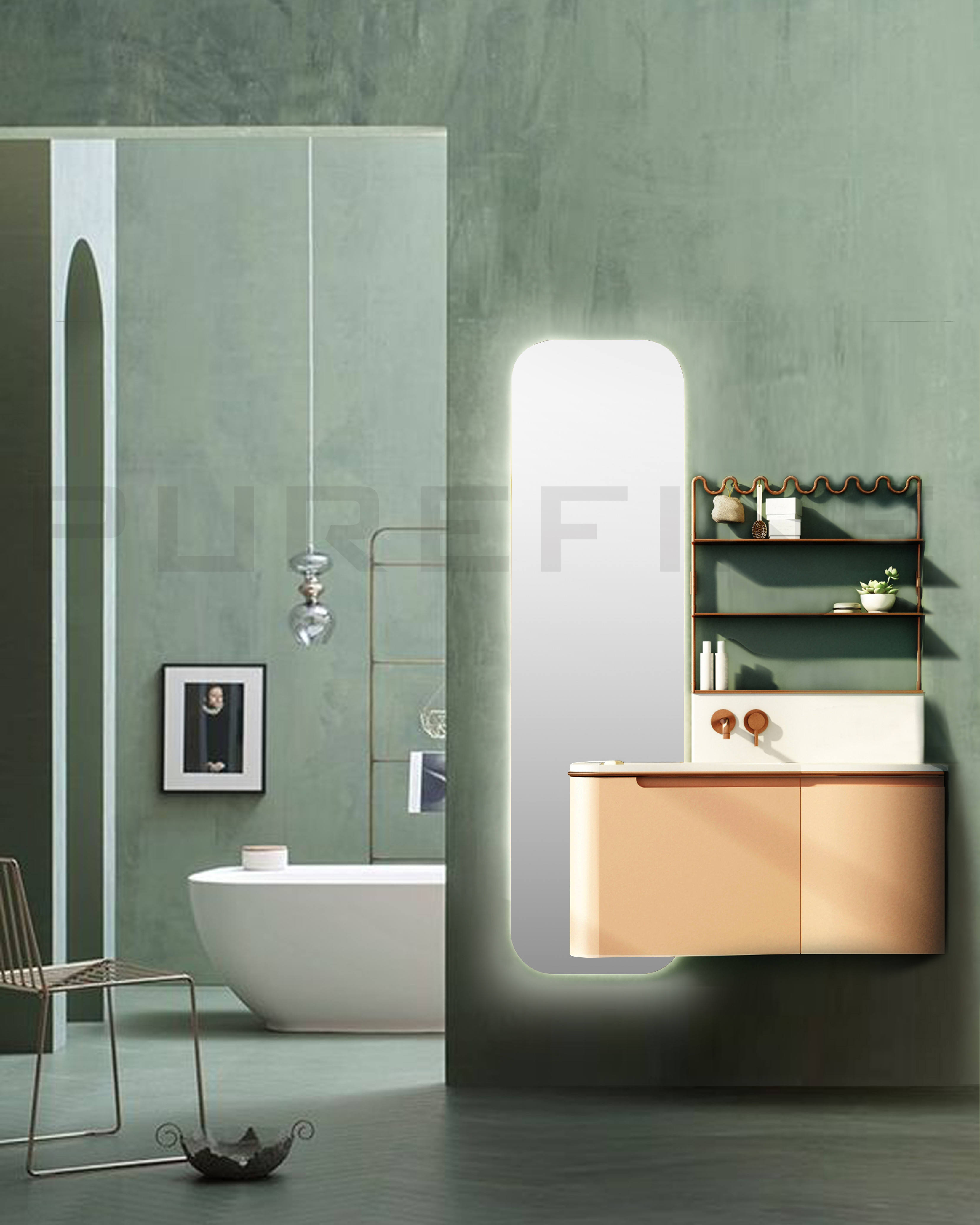 Wall-hung Cheap Bathroom Vanity Apartment Color Customized