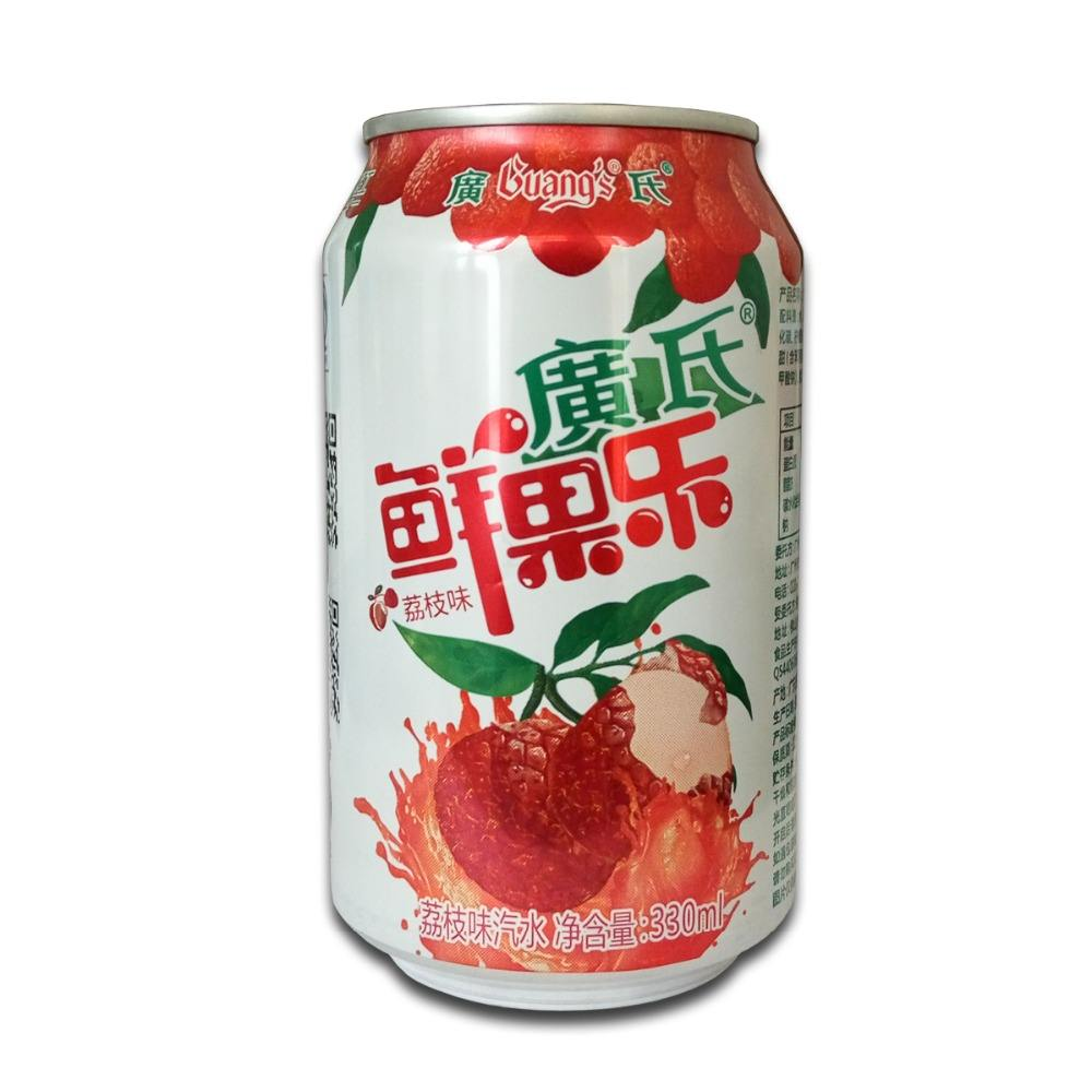 Cheap Price 330ml Can(tinned) Fruit Flavored Soda Drink in China