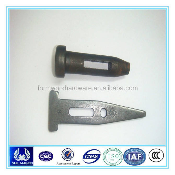 metal accessories wedge bolt, wedge pin, flat tie