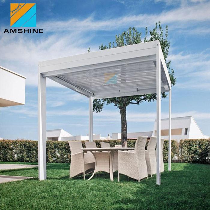 Im freien Wasserdichte Jalousie Dach Pavillons