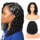 Human Hair Lace Front Bob Wigs Brazilian Curly Short Lace Wig with Baby Hair Side Part Glueless Lace Front Wig for Women