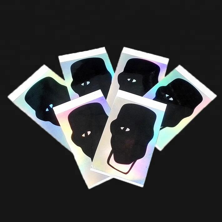 good printing effect holographic destructible vinyl label eggshell sticker