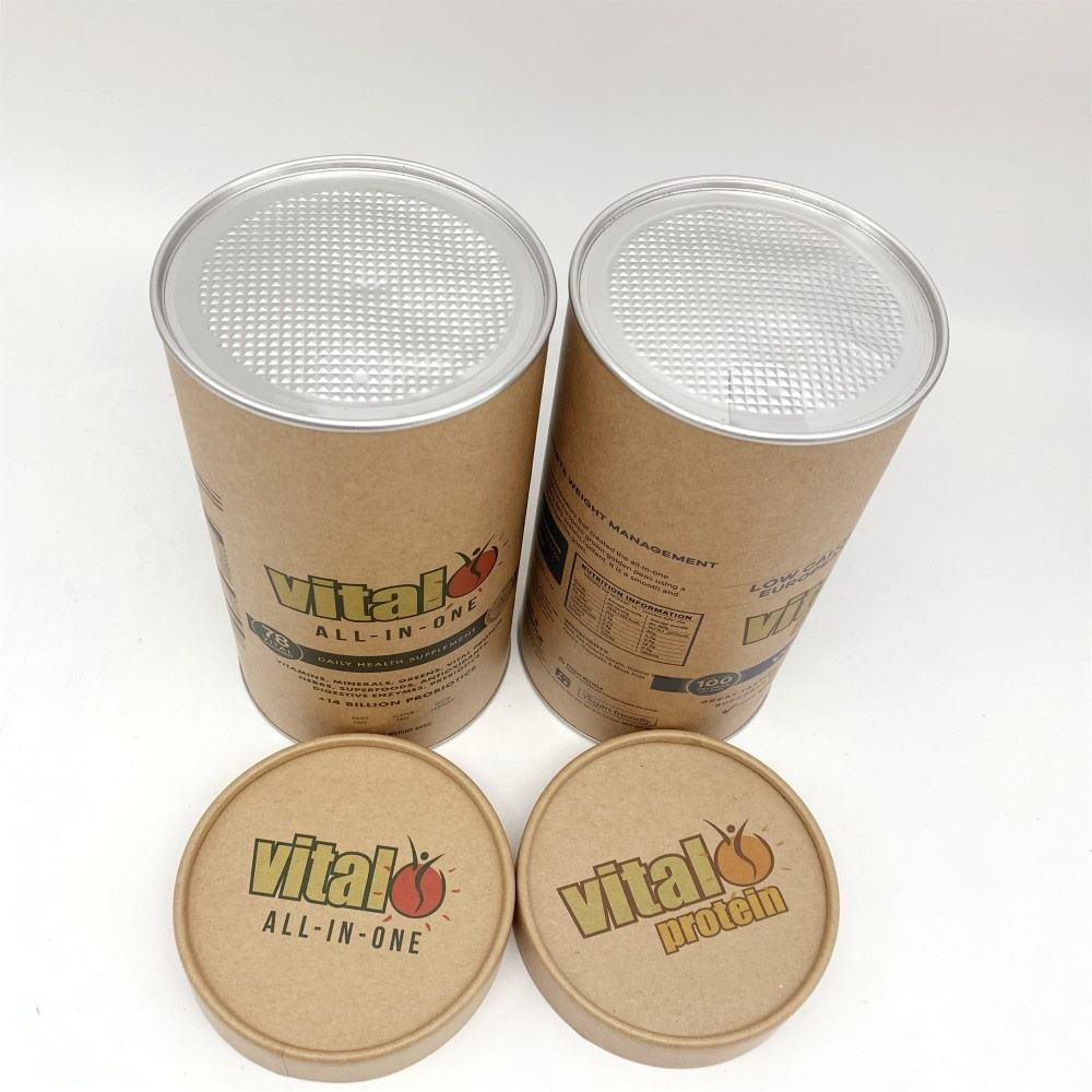 Eco-friendly Food Grade Round Kraft Paper Packaging Tube