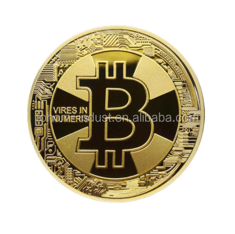 Factory price custom metal made gold silver copper challenge bitcoin commemorative coin
