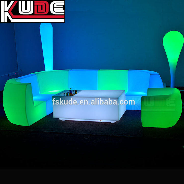 Nightclub Used Bar Furniture/LED Furniture Sofa/Outdoor LED Furniture Lighting For Party Event