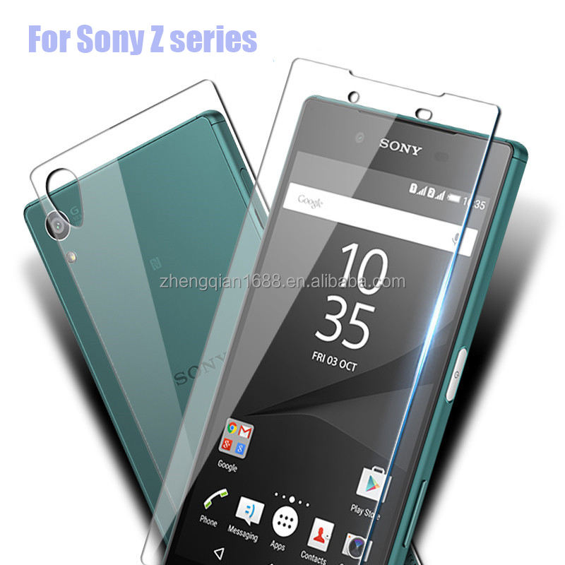 9 H 0.3mm 2.5D proof Voor + Back Gehard Glas Screen Protector Voor Sony Xperia Z Z1 Z2 Z3 Z4 Z5 Premium Mini AntiExplosion Film
