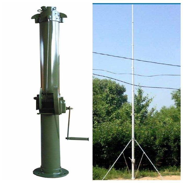 12meter alum hand crank up telescopic Mast Tower