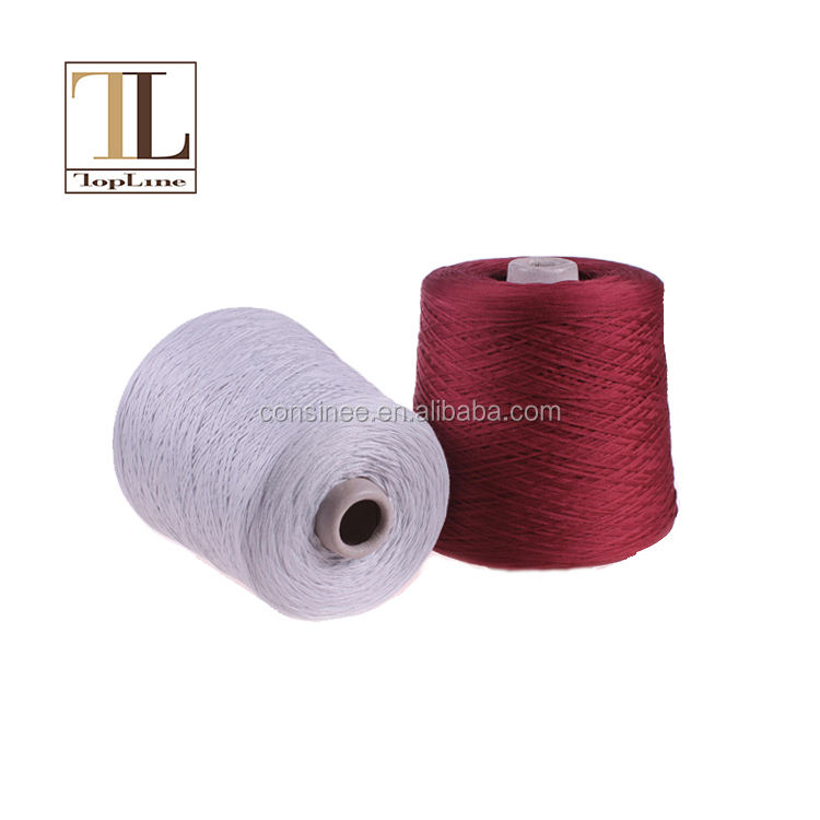 Topline stock cotton yarn on sale fancy pure baumwolle cotton