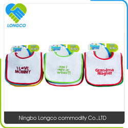 Factory price customized logo baby bibs triangle