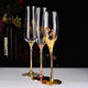 Glassware factories metal champagne flutes for wedding party supply