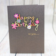 Factory directly sale wholesale Professional Design Gift Hand Made paper Greeting Card birthday cards with flower