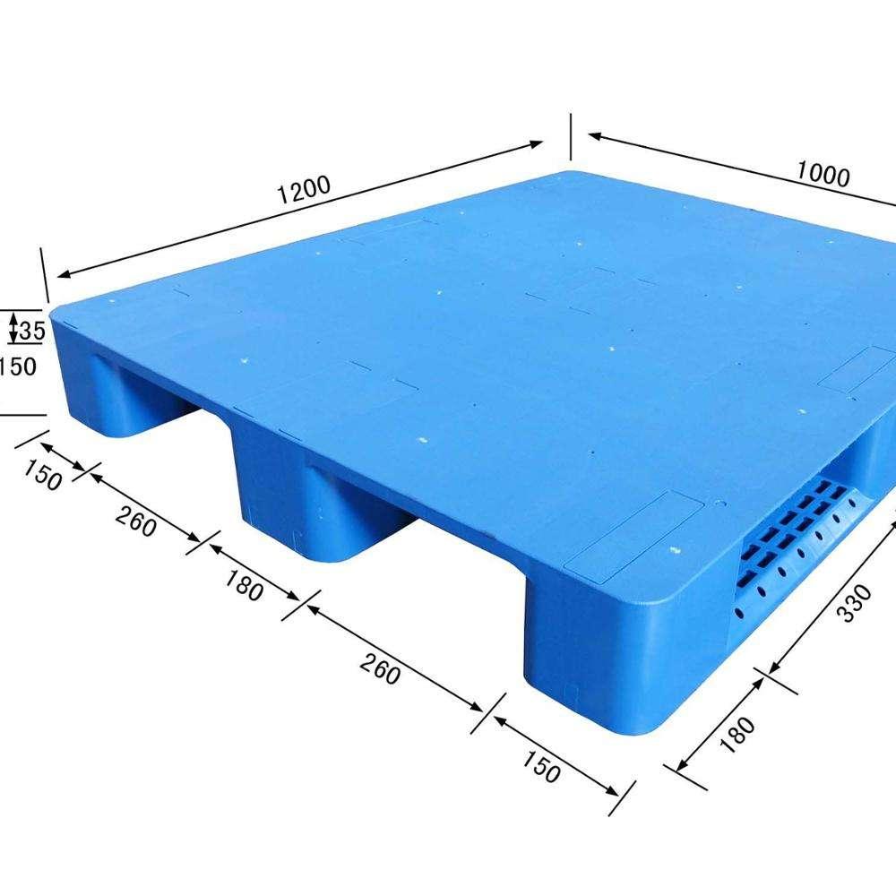 Warehouse Storage forklift use 1200X800 plastic pallet for apparel manufacturer